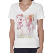 UNISEX_DEEP_V-NECK-White
